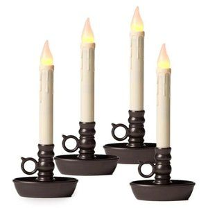 Flickering candles cordless w timer 4pk home decor